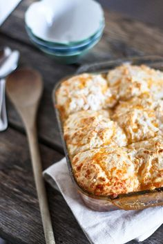 Apple Cobbler with Cheddar Biscuits