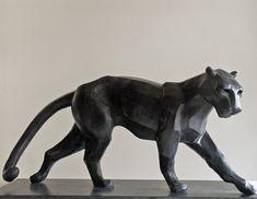 Big Cats and Feline Sculptures by Pascal Masi Concrete Sculpture, Art Sculpture, Animal Sculptures, Bronze Sculpture, Saint Yves, Dog Anatomy, Jaguar, Ceramic Animals, Wooden Art