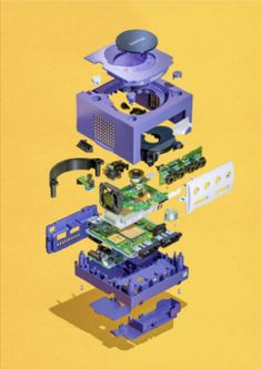 Throwback to a classic a Nintendo Gamecube. This poster was designed by artist Richard Parry on Displate. Nintendo 3ds, Super Nintendo, Retro Game Systems, Videogames, Arcade, Framed Art Prints, Poster Prints, Gaming Posters, Sega Master System