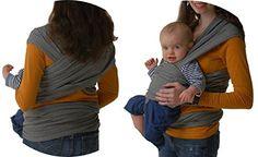 Fular portabebés elastico para llevar al bebé ✮ fulares para hombre y mujer ✮ tonga pañuelo portabebe ajustable ✮ Lleve a su bebe cerca de su corazón