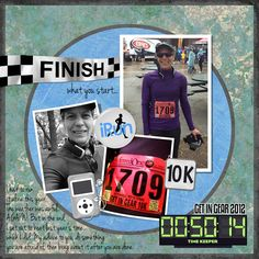 Finish what you start | Digital Scrapbook Layout by Theresa Kavouras-Running Page
