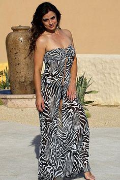 6f7e78cb09a8f Calathea - Sheer Zebra Beach Dress Swimwear cover ups --Dress for beach see  here