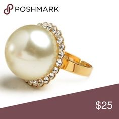 ❗NEW Zara Statement Pearl & Studded Ring ❗️LAST CHANCE❗️Zara Statement Pearl Ring w/ studs. NWT. One size. Costume jewelry. Make an offer! Holiday Blowout Sale--giving to the first reasonable offer I receive! Enjoy discounts on bundles! Asap shipping ;-) Zara Jewelry Rings