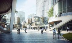 Shading Device, Future Thinking, Zhuhai, Sunken Garden, Commercial Street, Building Facade, Garden Office, Master Plan, Architect Design