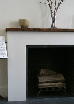simply framed fireplace