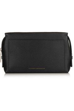 e9ef102c5c28 Victoria Beckham Estée Lauder - Textured-leather cosmetics case