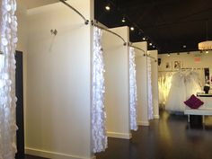 Taffetta Petal Photobooth Backdrop Petal Curtains by UnSempliceSi Bridal Boutique Interior, Boutique Decor, Boutique Ideas, Dressing Room Design, Dressing Rooms, Curtain Rods, Store Design, Curtains, Behance