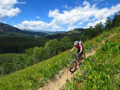 Brittany Konsella mountain biking Teocalli Ridge Trail near Crested Butte