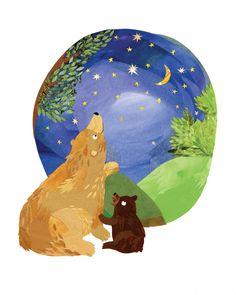 Stargazing Bears Print   Kate Slater via Etsy.