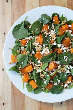 This salad is gorgeous! The combination of sweet caramelised honey pumpkin,  salty feta and tart balsamic is a dreamy match...