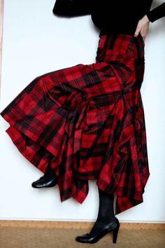 Black and red tartan