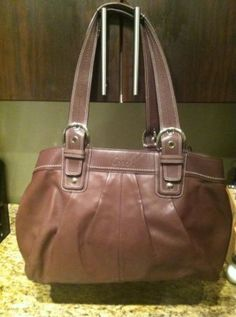 Brown Leather Coach Purse - $125.00