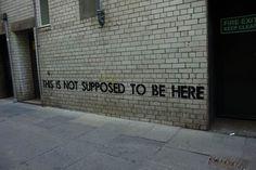 THE WRITTEN WORD  ENTRE STREET ART ET IRONIE