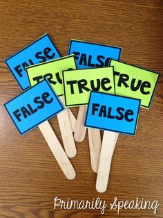 Love these True/False paddles from Primarily Speaking - a great way to ...