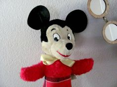Vintage Mickey Mouse 1960's Gund Mickey Mouse by ThirstyOwlVintage