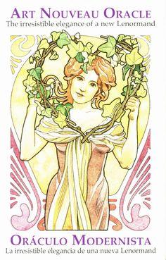 Lenormandkarten - Jugendstil - Art Nouveau  Art Nouveau Oracle - das unwiderstehlich elegante Tarot des neuen Lenormand. Den Symbolen der Kunst des Jugendstils gelingt es, die Eleganz und die Anmut der Bilder mit den okkulten Bedeutungen der Karten zu verschmelzen. Dieser Vereinigung entströmt mit unglaublicher Kraft die Fähigkeit, die Zukunft vorherzusagen.