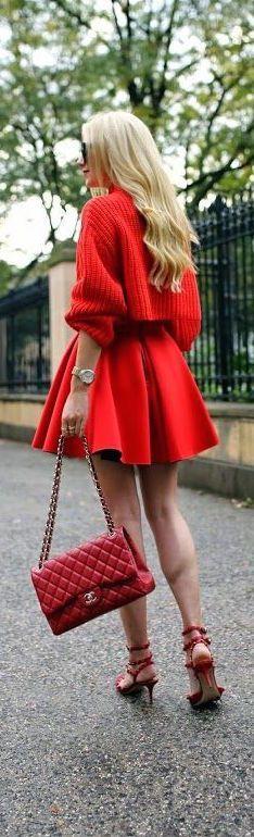 @roressclothes clothing ideas #women fashion red midi dress
