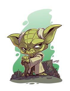 Klaatu Barada Nikto - Chibi Star Wars Characters by Derek Laufman Star Wars Fan Art, Star Wars Karikatur, Star Wars Cartoon, Character Art, Character Design, Star Wars Characters, Comic Art, Sketches, Animation