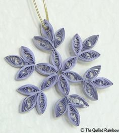 Quilled Snowflake  Christmas Ornament in Gray by TheQuilledRainbow, $3.99