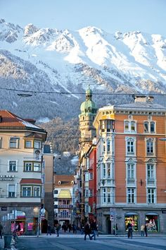 Innsbruck, Austria - so amazing to just walk out a door and look up and wow! There's the alps!!