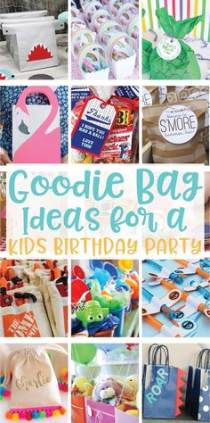 20 Creative Goodie Bag Ideas For Kids Birthday Parties On