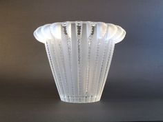 LALIQUE ROYAT ART DECO FRENCH ART GLASS VASE in Pottery & Glass, Glass, Art Glass | eBay