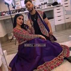 Afghan Couple Afghani Dress