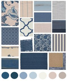 Classic blue and white decorating will never go out of style as these colors have a place in all cottage styles.