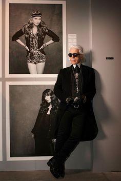 Karl Lagerfeld Dons Signature Look for Vogue Japan, Celebrating The Little Black Jacket