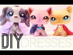 DIY Lps dresses (no glue/sewing) - YouTube