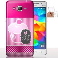 Etui a portable Galaxy Grand Prime So Girly | Coque Silicone. #coquetelephone #GrandPrime #Rose #Girly #PhoneCase #Cover