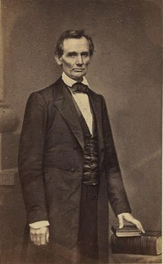 Abraham Lincoln - 1860 at Matthew Brady's studio  One of my favorite photos of him.
