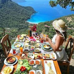Travel to Fethiye Turkey for holidays in Fethiye, Oludeniz and Hisaronu. At our Fethiye holidays portal we offer apartments and villas for rent, airport transfers, guided tours and excursions. Travel Aesthetic, Aesthetic Food, Beautiful Places To Travel, Wonderful Places, Breakfast Around The World, Turkey Destinations, Breakfast Pictures, Turkish Breakfast, Turkey Travel