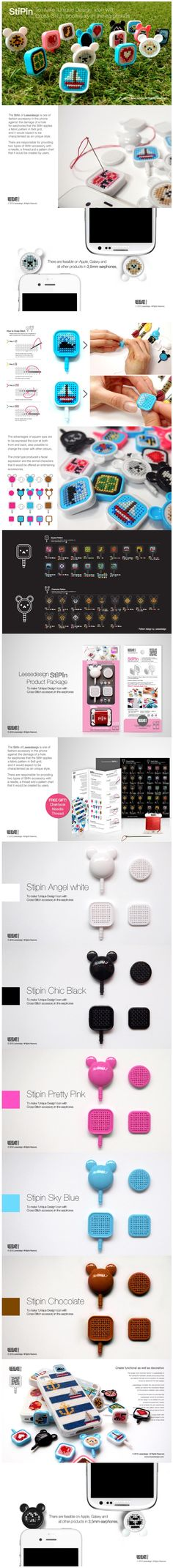 DIY cross stitch iphone case kit!