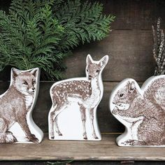 Woodland Friends Vase - Set of 3 (don't need the vases, but love the graphics)