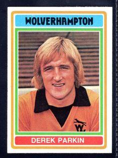 TOPPS FOOTBALLERS-BLUE-1976-DEREK PARKIN-WOLVERHAMPTON WANDERERS No.116