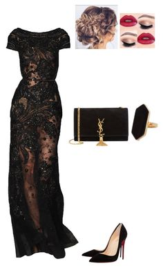 Untitled #880 by danielleguizio on Polyvore featuring Christian Louboutin, Yves Saint Laurent and Jaeger