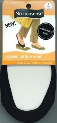 No-Nonsense Hidden Cotton Liner Black (3-Pack) No-Nonsense. $12.09
