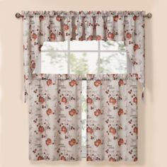 Summer Garden Natural Window Curtain Tier Pairs - BedBathandBeyond.com