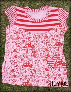 Farbenmix Fano in Hilco campan and Crafty Mamas Sweet things fabric. Milli in Love embroidery.