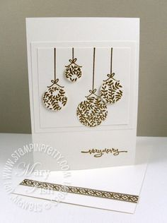 Mary Fish - Christmas card using Stampin' Up!