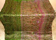 Pure silk Antique Vintage Sari Fabric 4y N12FSC61 Henna #00DY6 | eBay