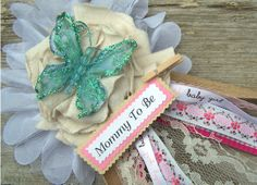Butterfly Mommy To Be Corsage Baby Shower Corsage by BloomingParty, $18.00