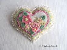 pastel layered heart pin