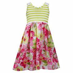 Bonnie Jean Striped Floral Dress - Girls 4-6x
