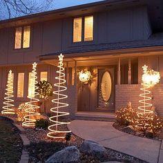 White Christmas Lighting Display
