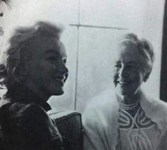 Marilyn and Bertha Spafford-Vester at the home of Fleur Cowles in Connecticut. Photo by Milton Greene, 1955.