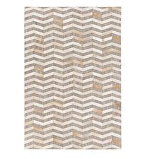 8 x 10 Dazzling Waves Burnt Orange and Toupe Brown Hand Crafted Area Throw Rug *** Click image for more details.