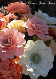 1528 best paper flowers images on pinterest in 2018 artificial beautiful paper flowers designed by anna fearer mightylinksfo