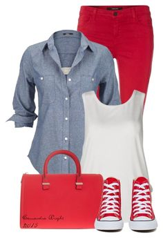 """""""Untitled #4126"""" by cassandra-cafone-wright ❤ liked on Polyvore featuring J Brand, Silver Jeans Co., Victoria Beckham and Converse"""